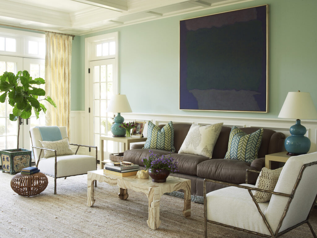 Meg Braff Designs Southampton home living room