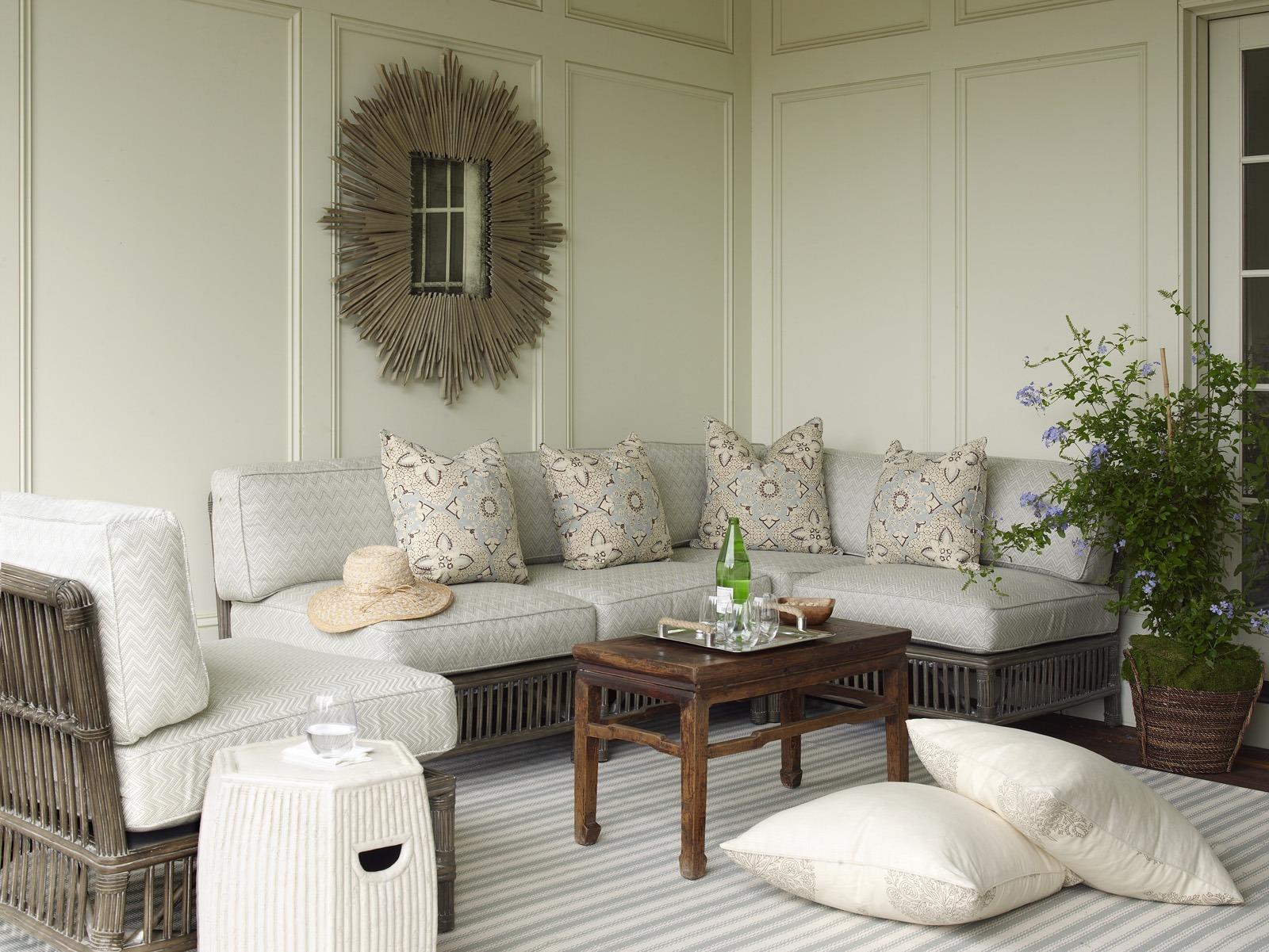 Meg Braff Designs Southampton home loggia