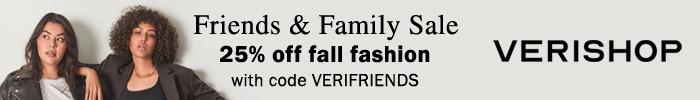 verishop friends family sale fall 2020
