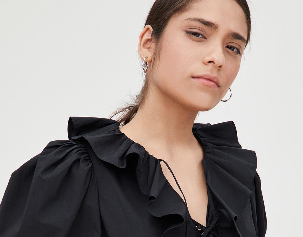 ulla johnson kalila ruffle blouse fall style