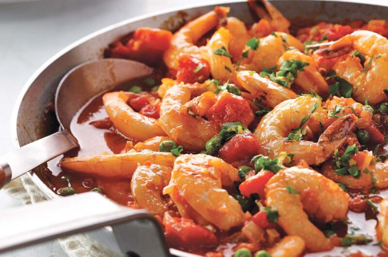 Spicy Skillet Shrimp