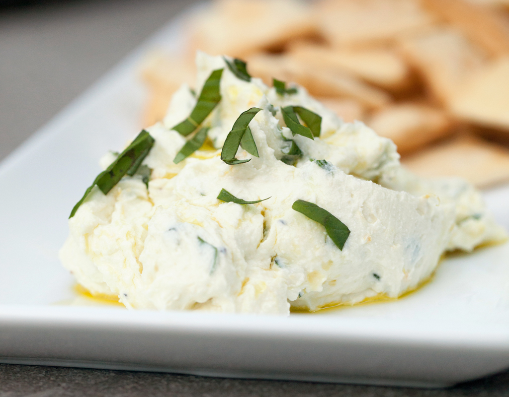 Ricotta and Goat Cheese with Lemon and Herbs