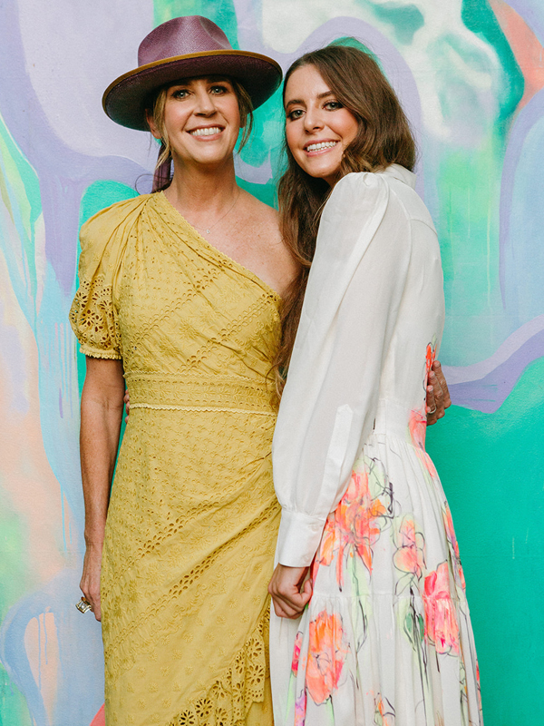 Summer 2021 Peachy Capsule Collection Blair Farris with Daughter Sydney Farris