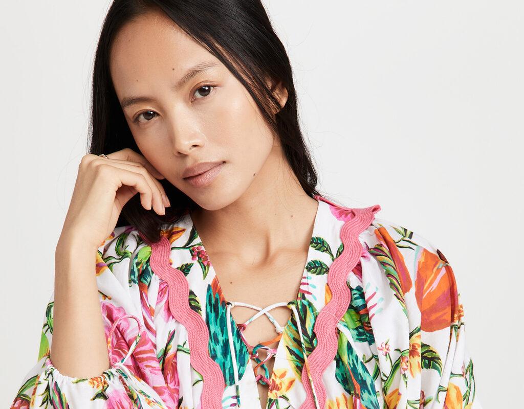 farm rio toucans garden blouse